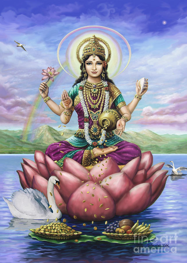Lakshmi Goddess of Fortune by Vishnudas Art