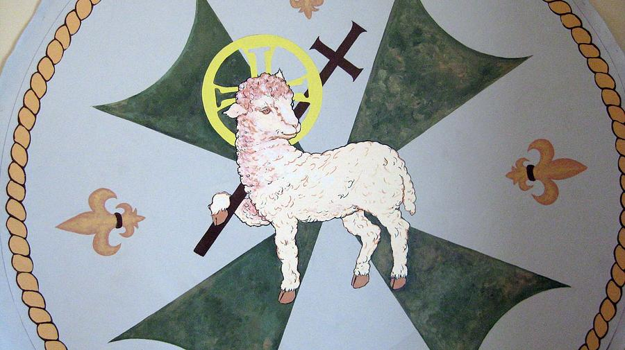 Religious Banner Painting - Lamb Of God by Patrick RANKIN