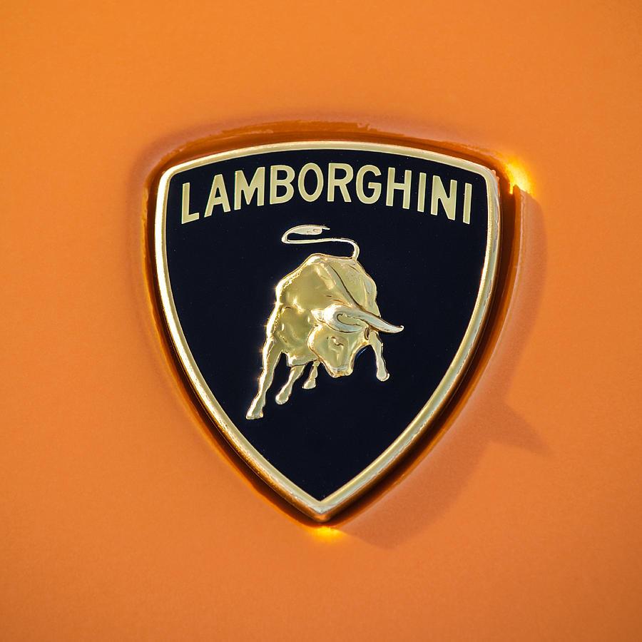 Lamborghini Logo Photograph - Lamborghini Emblem -0525c55 by Jill Reger