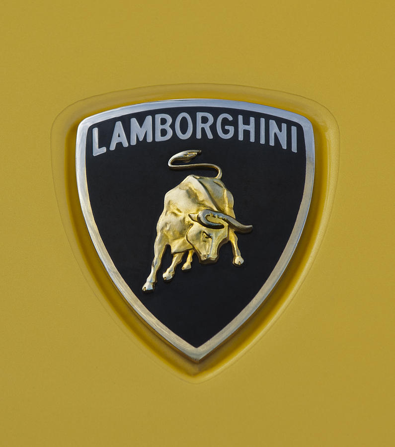 Lamborghini Photograph - Lamborghini Emblem 2 by Jill Reger