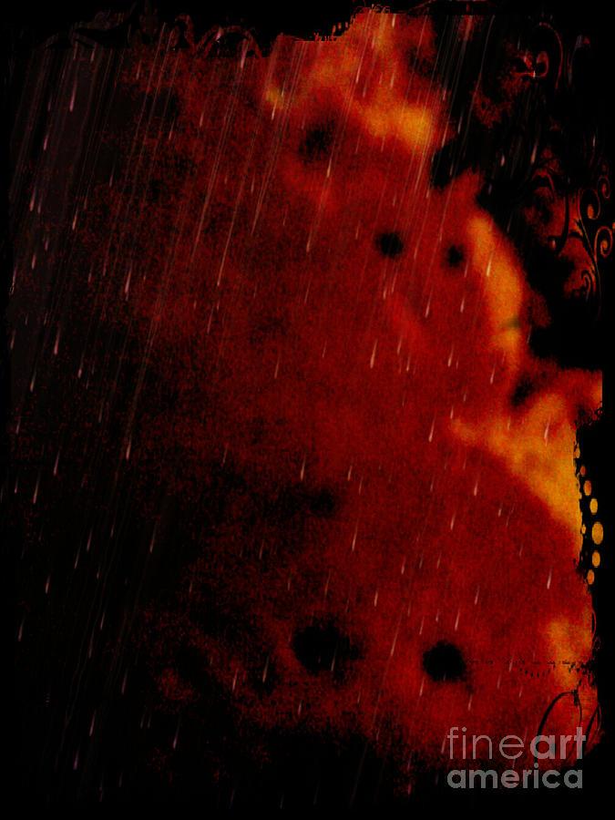 Abstract Mixed Media - Lamed by Daniel Brummitt