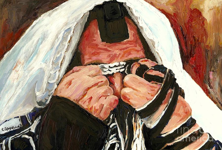 Montreal Religious Portraits Painting - Lamentations by Carole Spandau