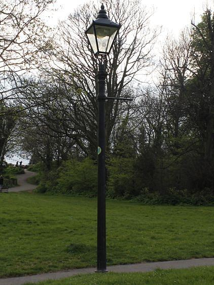 Lamp Post In The Park Photograph by Victoria Moraru