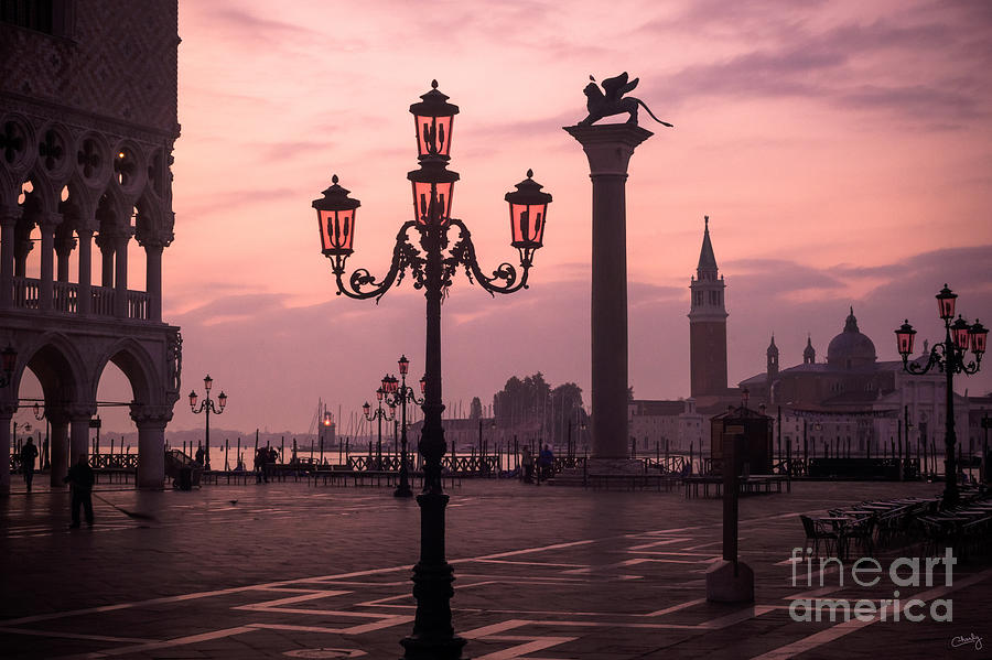 Lamppost of Venice by Prints of Italy