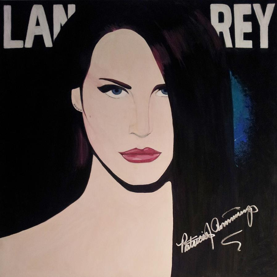 Lana Del Rey Blue Eyes by Patricia Brewer-Cummings