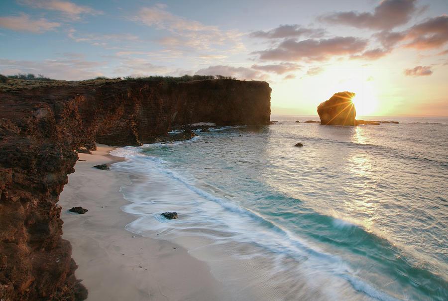 Lanai Sunset Resort Beach Photograph by M Swiet Productions