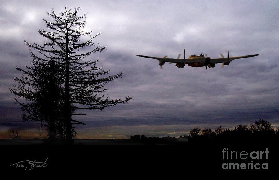 Planes Photograph - Lancaster Flight  by Tom Straub