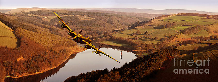 The Dambusters Photograph - Lancaster Over Derwent by Nigel Hatton