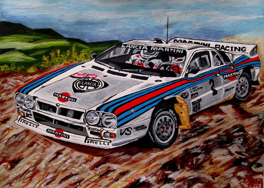 Lancia 037 Painting - Lancia 037 by Jose Mendez