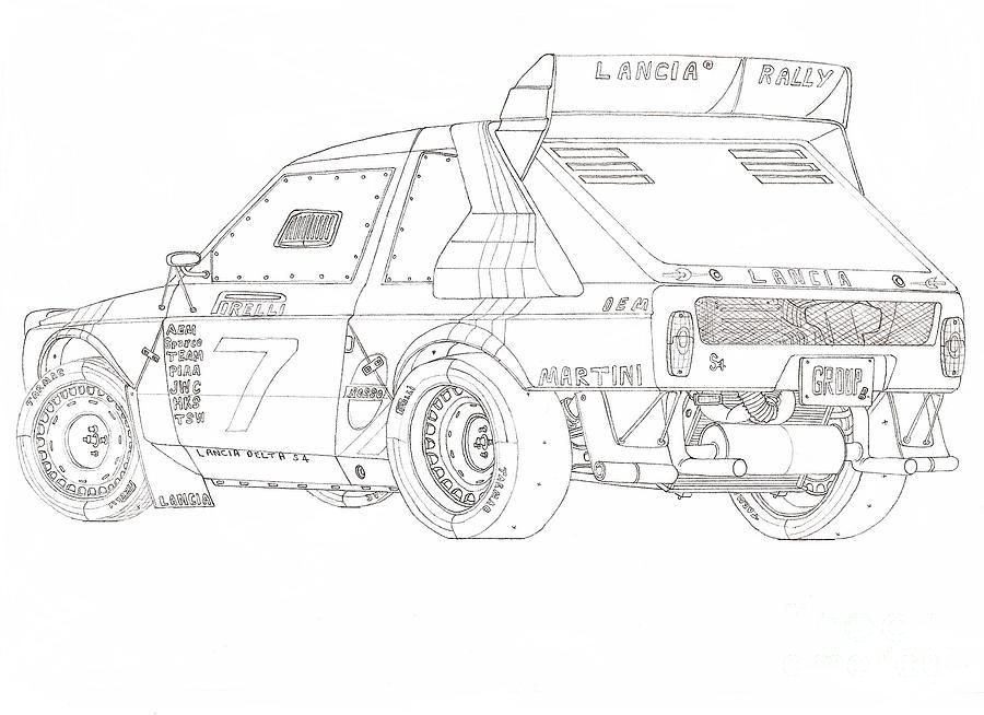 85 u0026 39 lancia delta s4 group b rally car drawing by kaan ipek