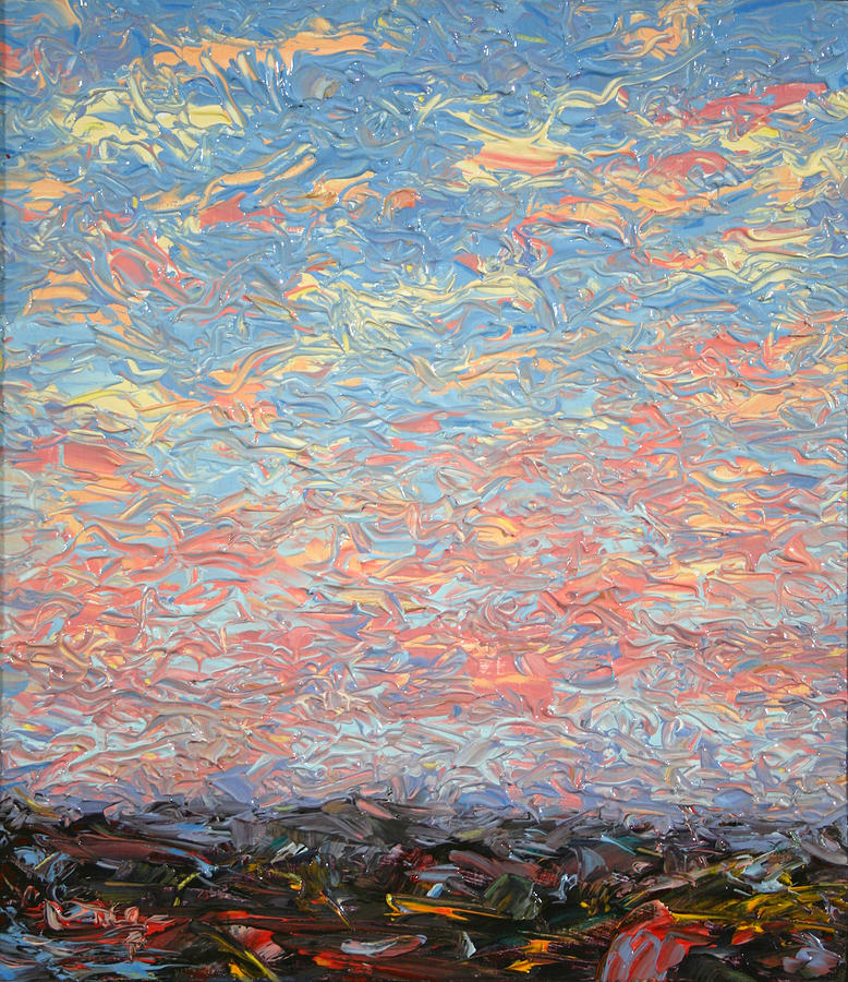 Landscape Painting - Land And Sky 3 by James W Johnson