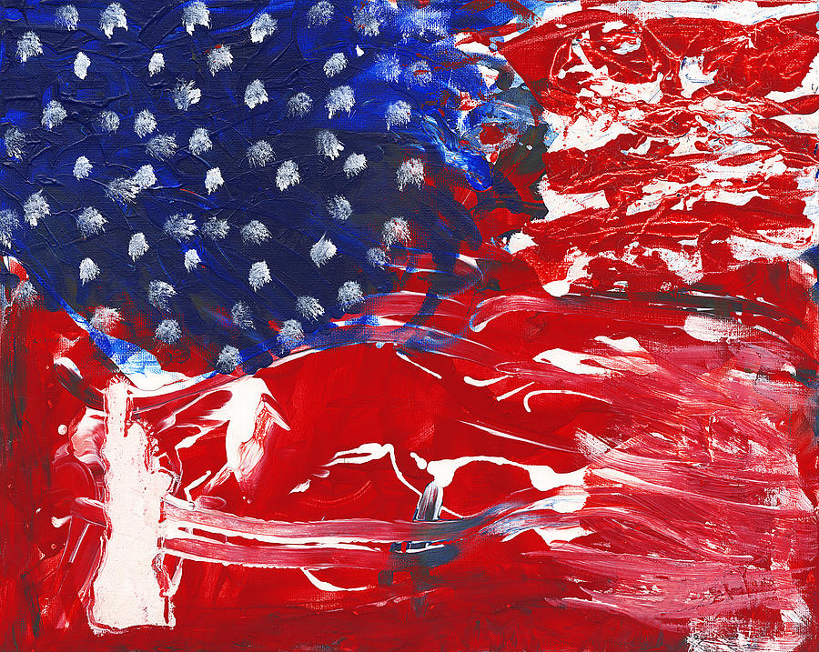 Independence Painting - Land Of Liberty by Luz Elena Aponte