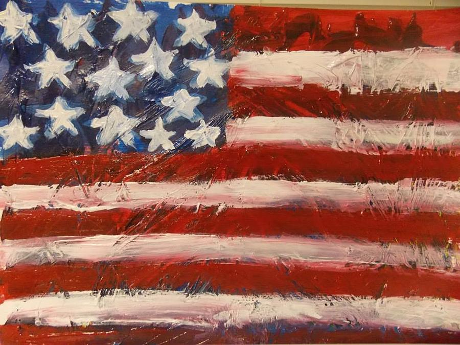 America Painting - Land Of The Free by Niceliz Howard