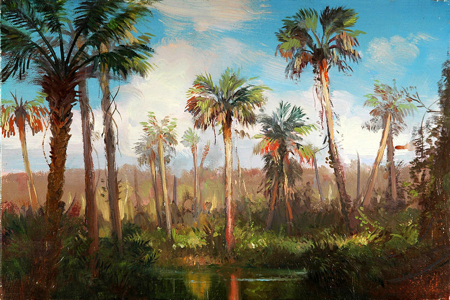 Paintings Painting - Land Of The Seminole by Keith Gunderson