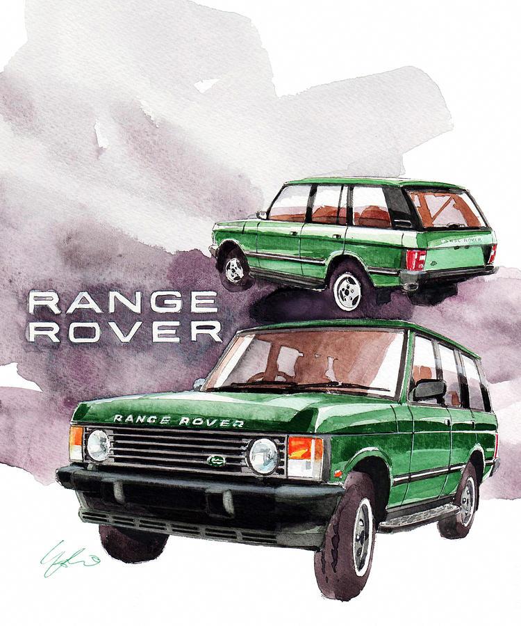 Land Rover Range Rover Painting - Land Rover Range Rover by Yoshiharu Miyakawa
