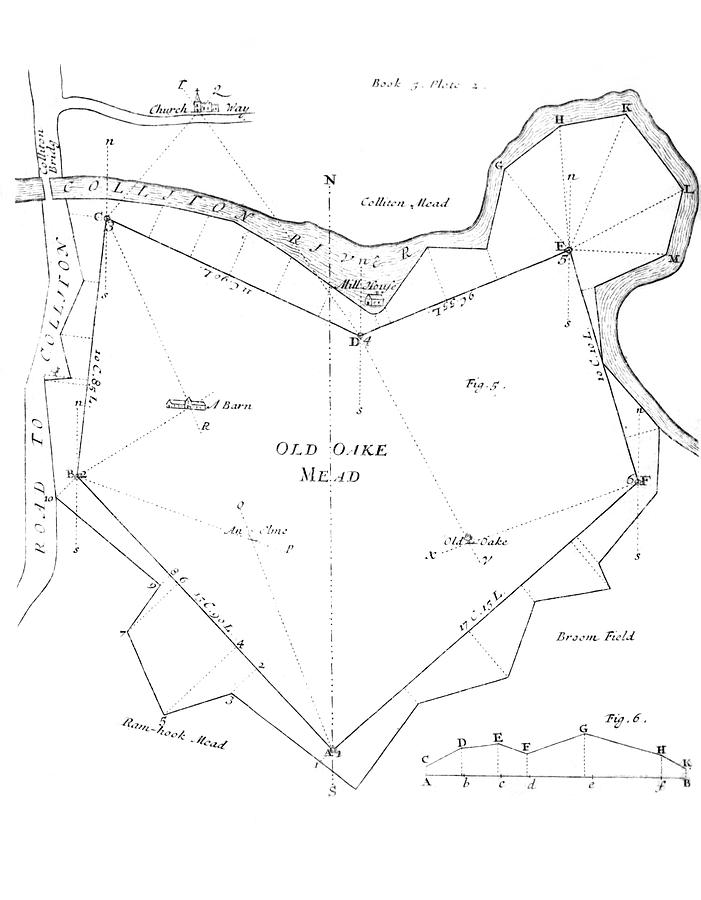 Manor Photograph - Land Survey From 1722 by Royal Astronomical Society/science Photo Library