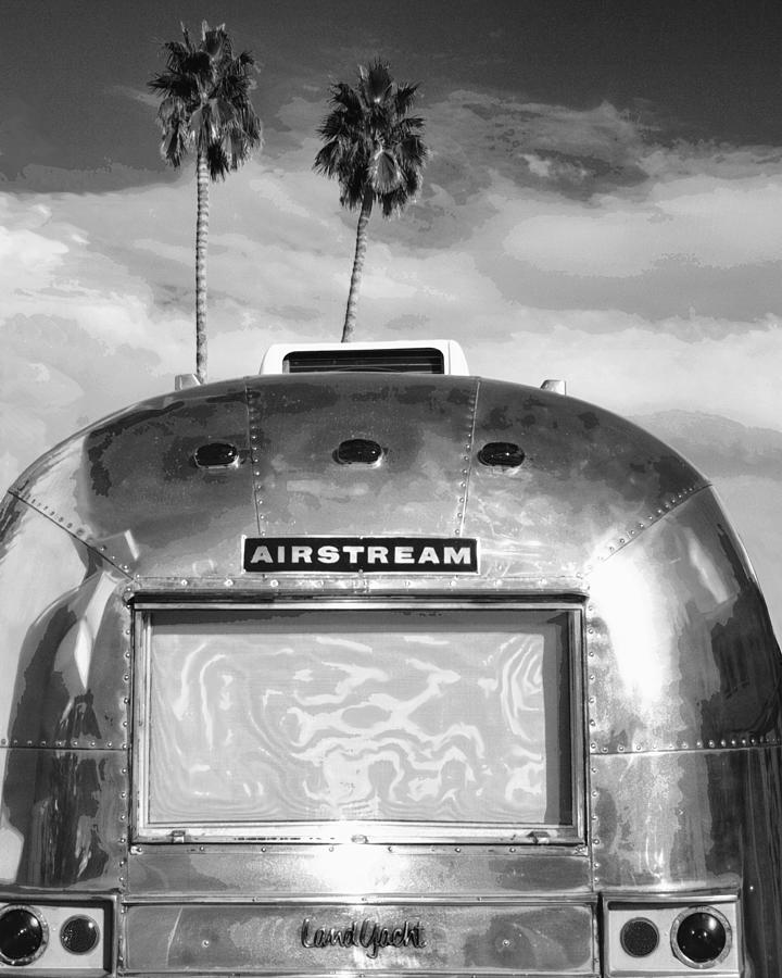 Airstream Photograph - LAND YACHT BW Palm Springs by William Dey