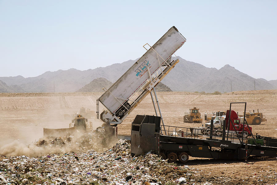 Vehicle Photograph - Landfill Waste Disposal Site by Peter Menzel