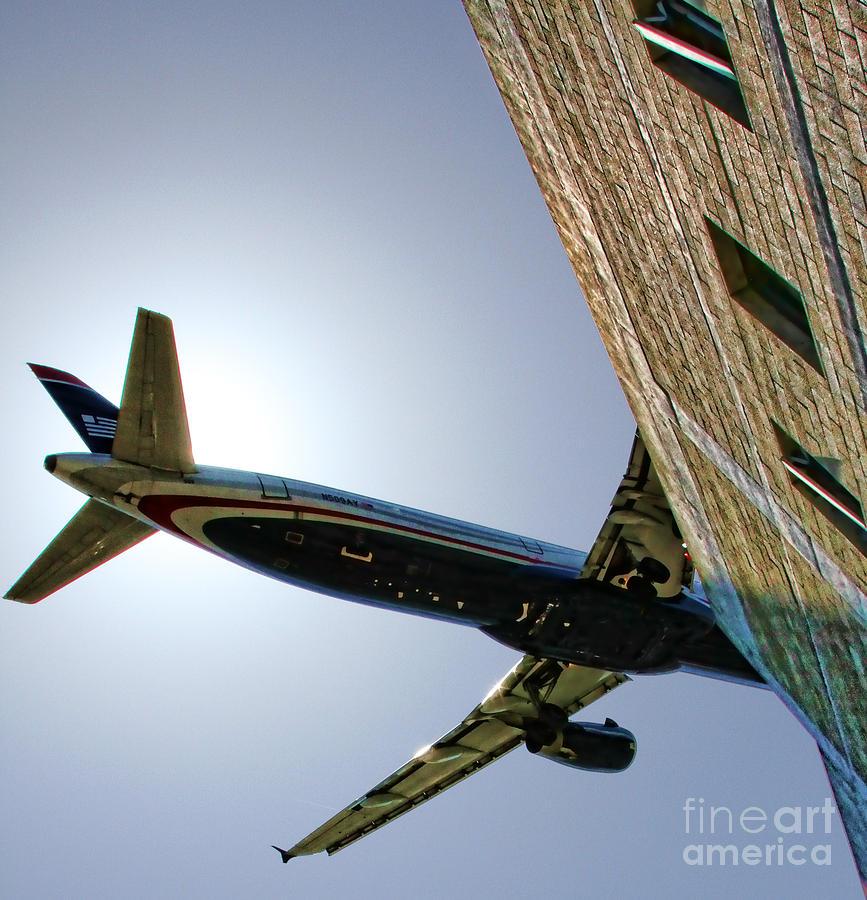 Airplane Photograph - Landing By Diana Sainz by Diana Sainz