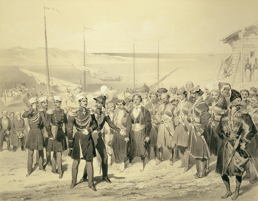 Chief Drawing - Landing Of A Military Leader by Grigori Grigorevich Gagarin