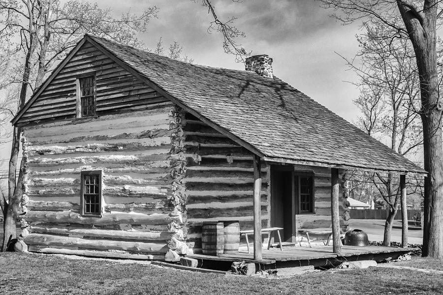 Historic Home Photograph - Landow Log Cabin by Guy Whiteley