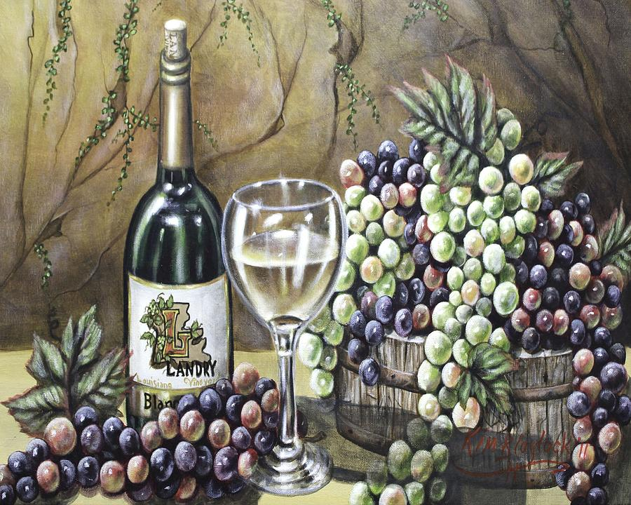 Wine Painting - Landry Vineyards by Kimberly Blaylock