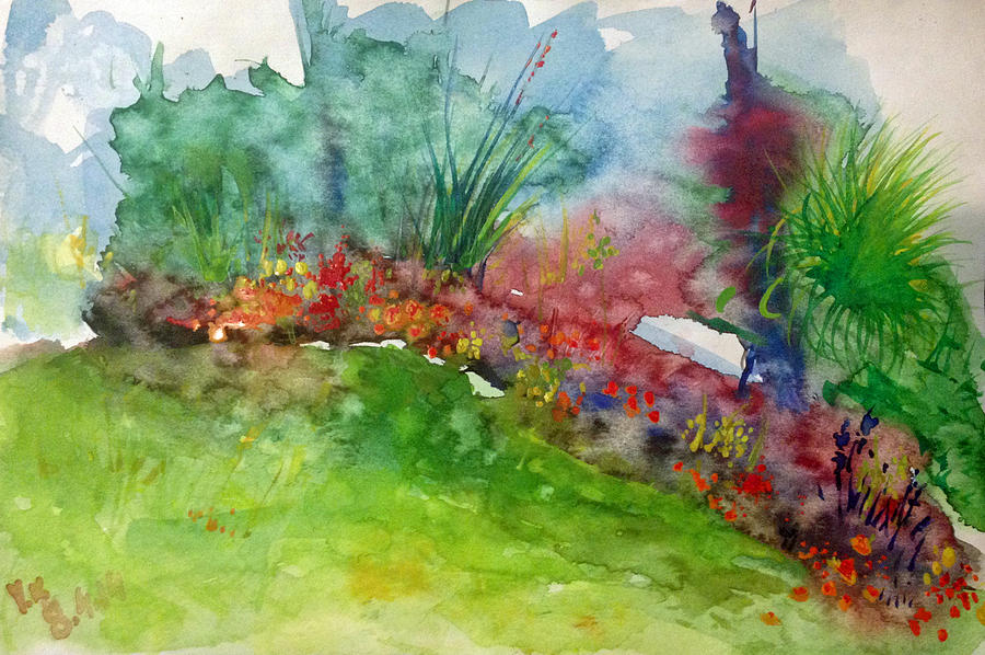 Watercolor Painting - Landscape-1 by Vladimir Kezerashvili