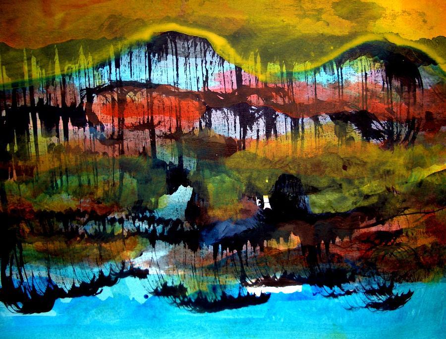 Landscape Painting - Landscape 121003-2 by Aquira Kusume