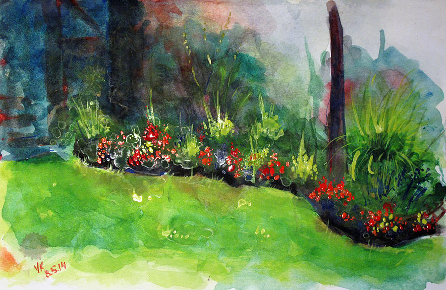Watercolor Painting - Landscape-3 by Vladimir Kezerashvili