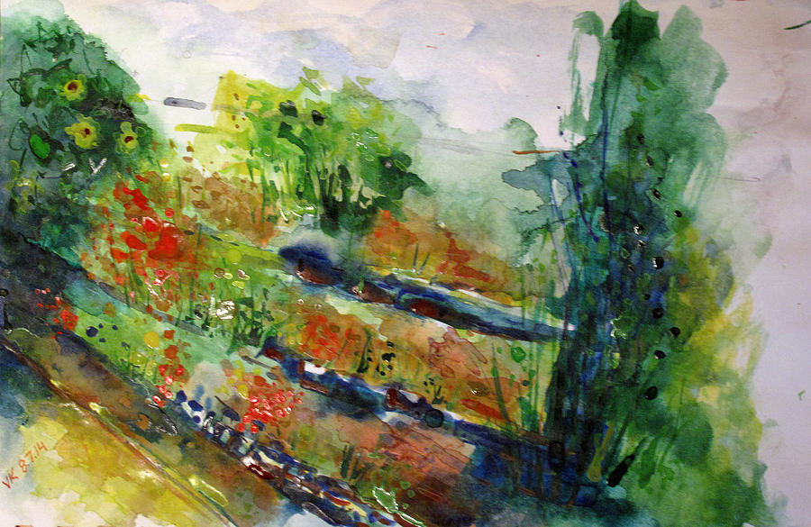 Watercolor Painting - Landscape-4  by Vladimir Kezerashvili