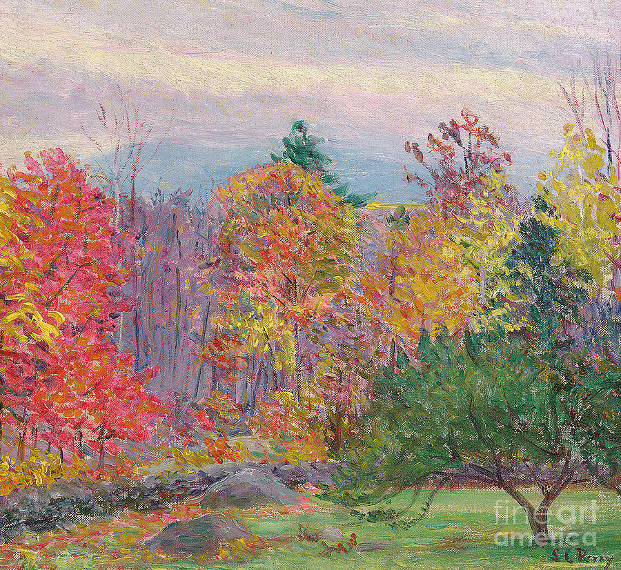 Tree Painting - Landscape At Hancock In New Hampshire by Lilla Cabot Perry
