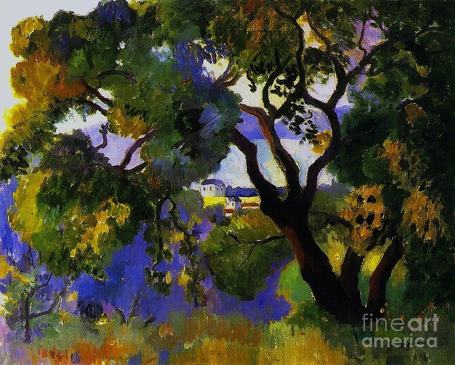 Pd Painting - Landscape At St Tropez  2 by Pg Reproductions