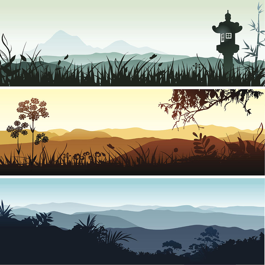 Landscape Banners Drawing by Bettafish