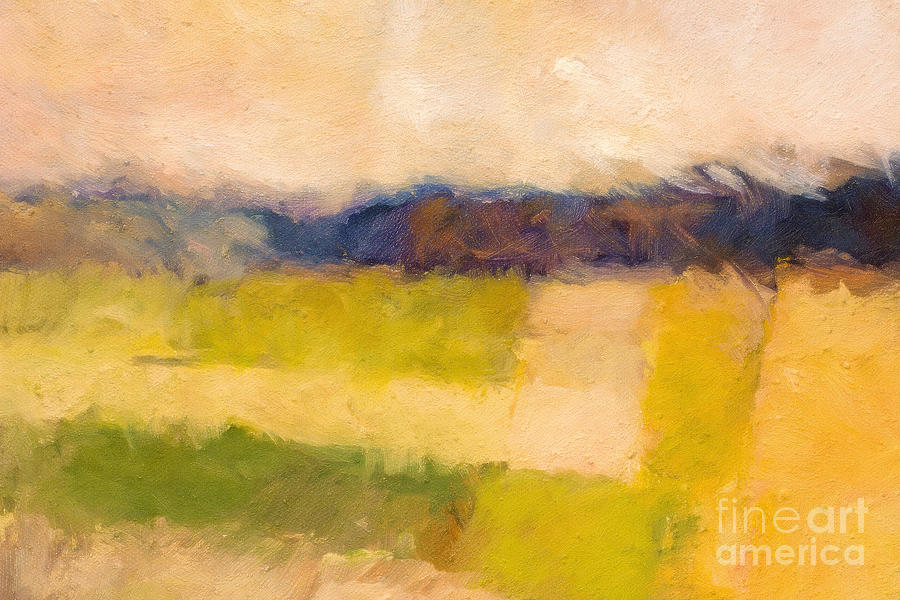 Abstract Landscape Painting - Landscape Impression by Lutz Baar