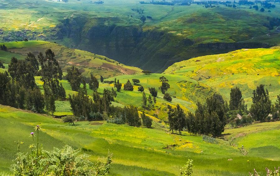 Landscape In Simien Mountain Photograph by Keren Su