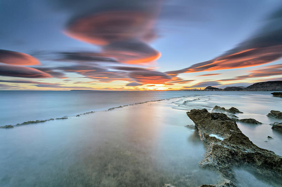 Landscape In The Sea With Clouds Photograph by Photographer Of The World