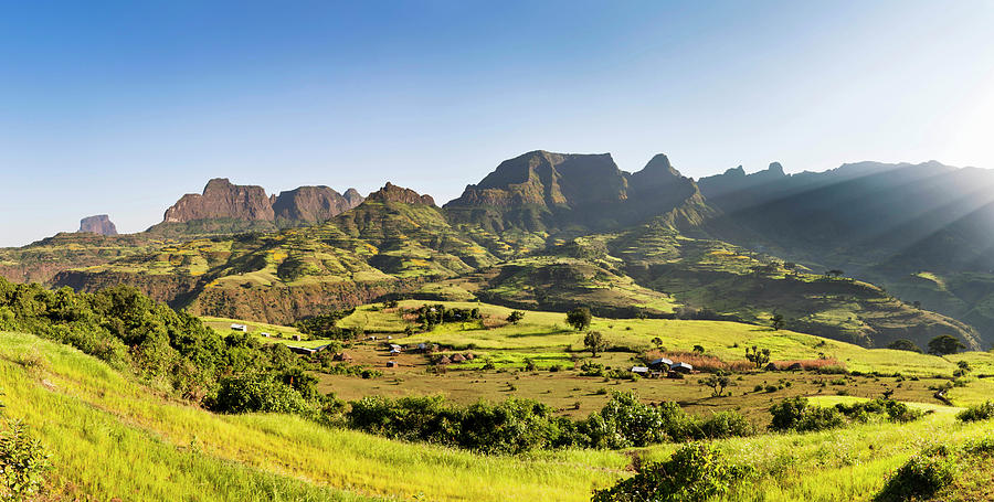 Abyssinia Photograph - Landscape Near The Escarpment by Martin Zwick