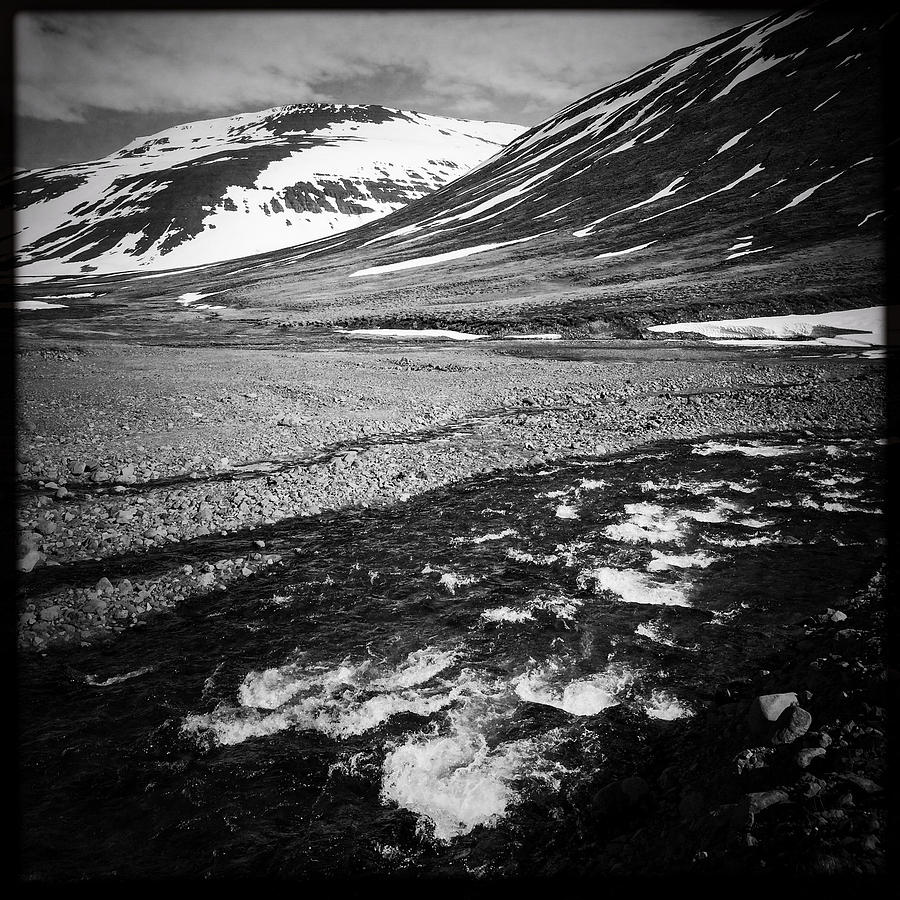 Landscape Photograph - Landscape North Iceland black and white by Matthias Hauser