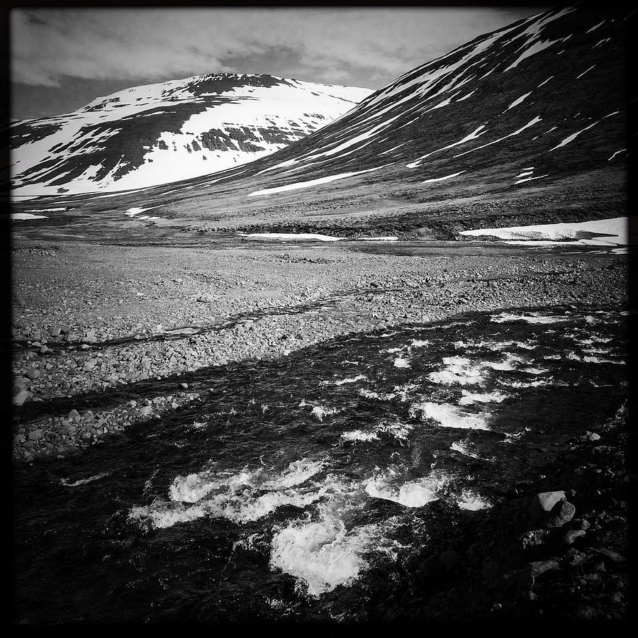 Landscape Photograph - Landscape North Iceland Black And White by Matthias Hauser