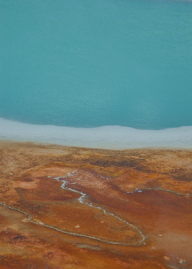Abstract Photograph - Landscape Of A Hot Spring by Sarah Crites