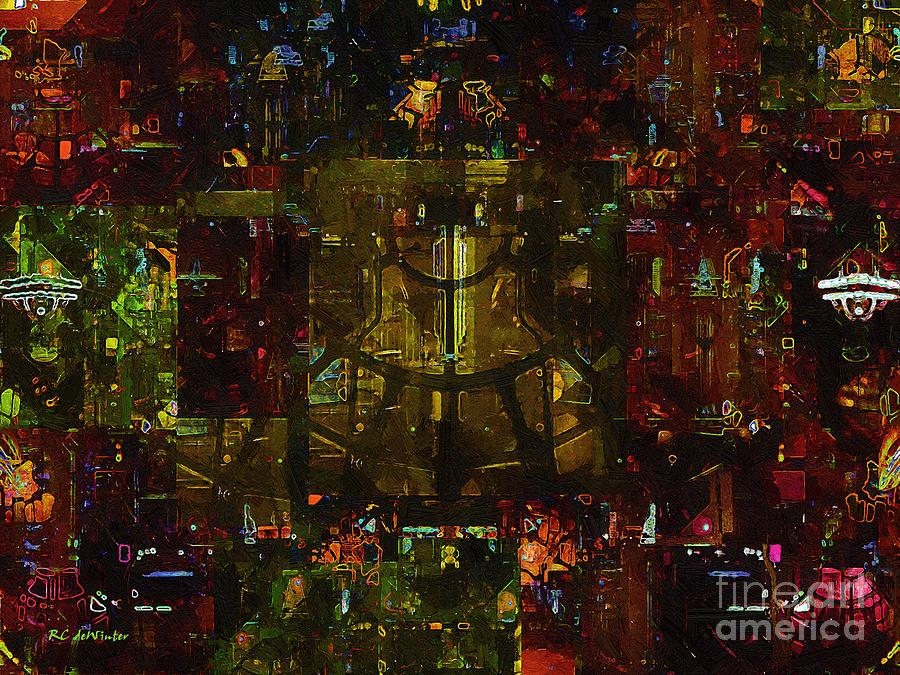 Abstract Painting - Landscape Of Hell by RC deWinter