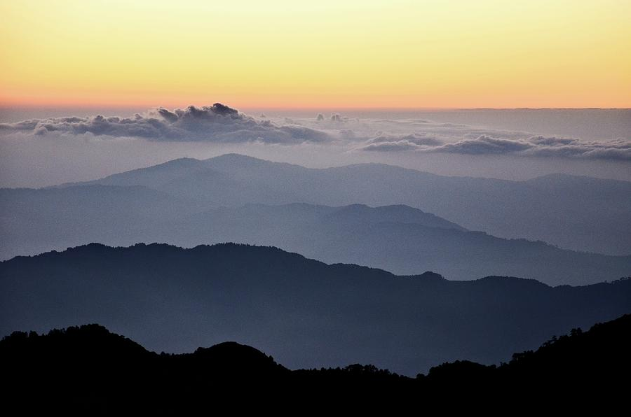 Landscape Of The Himalayas At Dawn Photograph by Pallab Seth