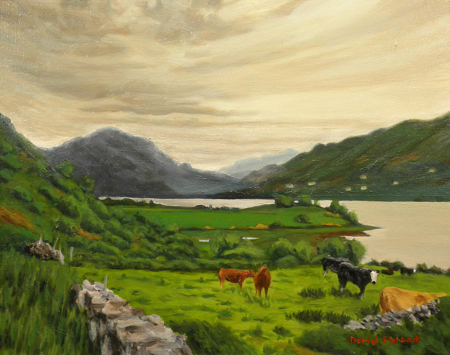 Ireland Painting - Landscape Painting - Connemara Ireland - Oil by Daniel Fishback