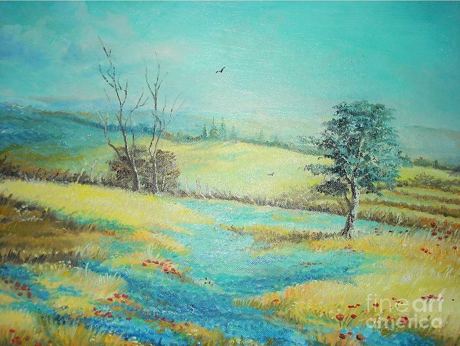 Landscape With Lavanda Painting