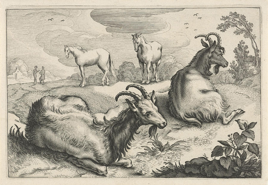 Landscape With Two Goats And Two Horses, Print Maker