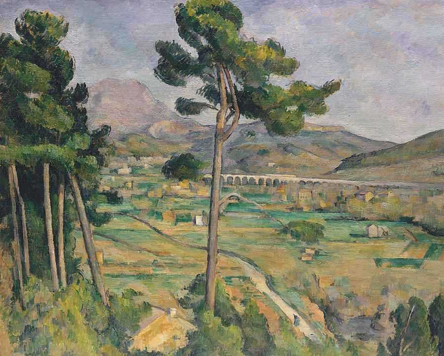 Cezanne Painting - Landscape With Viaduct by Paul Cezanne