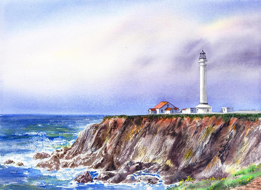 Lighthouse Point Arena California  by Irina Sztukowski