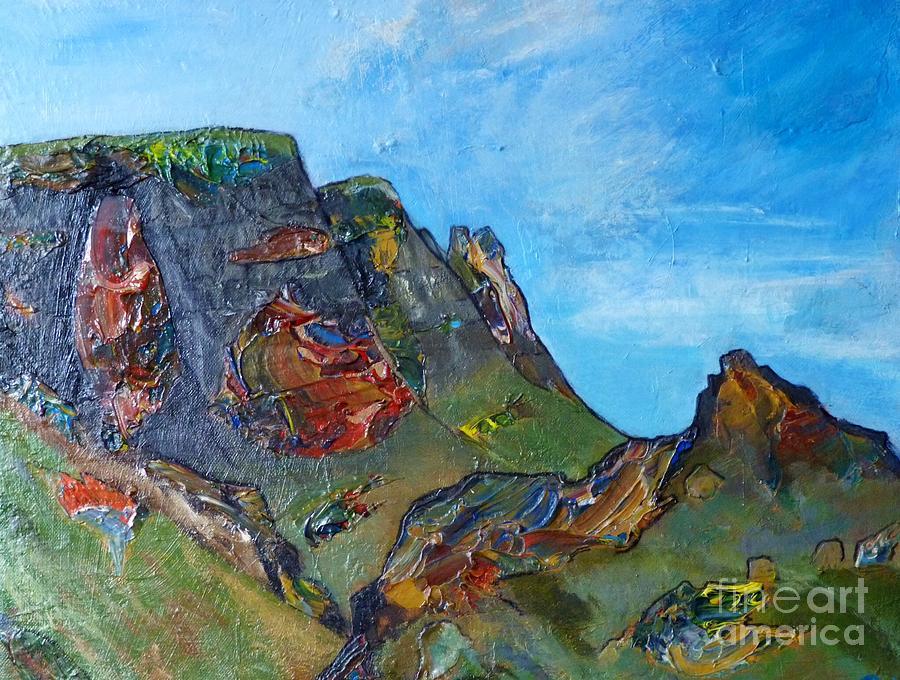Skye Painting - Landslip - Skye by Jacki Wright