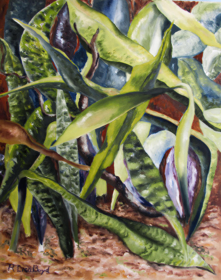 Cactus Painting - Languid Cactii by Lisa Boyd