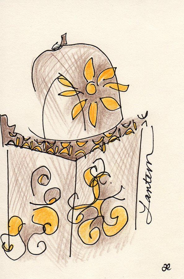 Moroccan Lantern Drawing